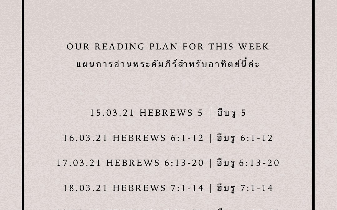 BEHOLD BIBLE READING
